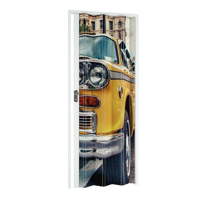 Porta a soffietto Car in pvc multicolore L 115 x H 214 cm - 1