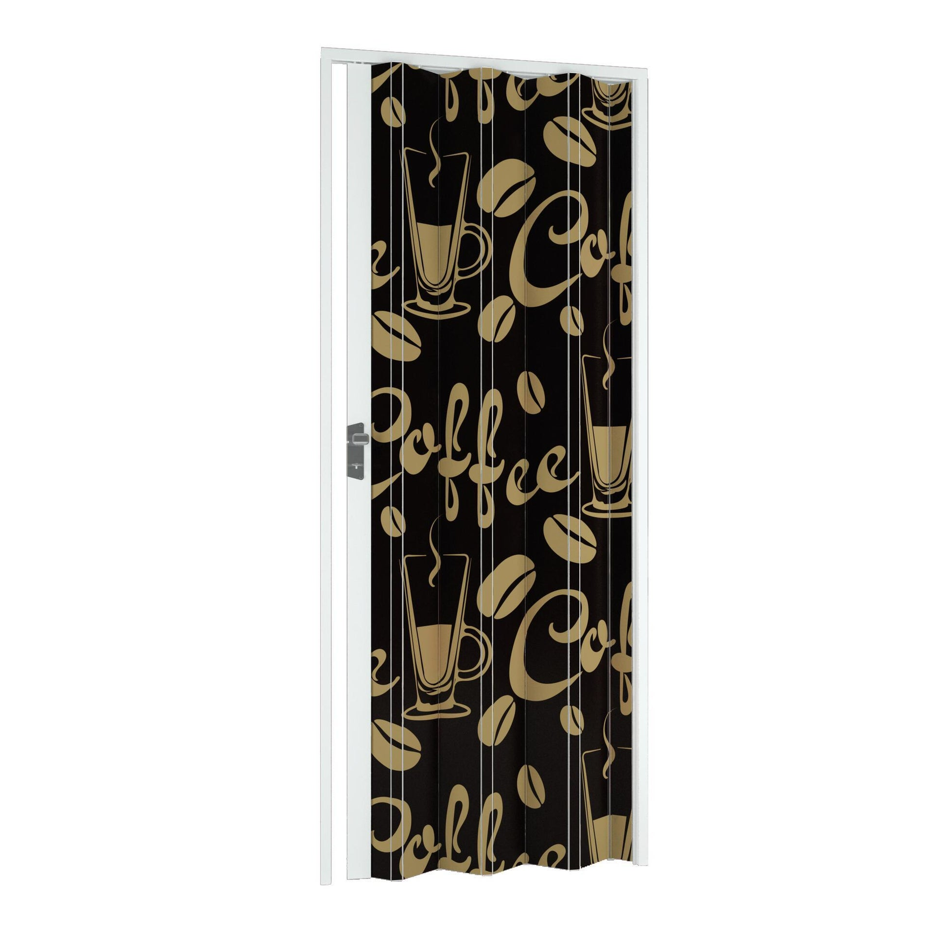 Porta a soffietto Coffee in pvc multicolore L 102 x H 214 cm