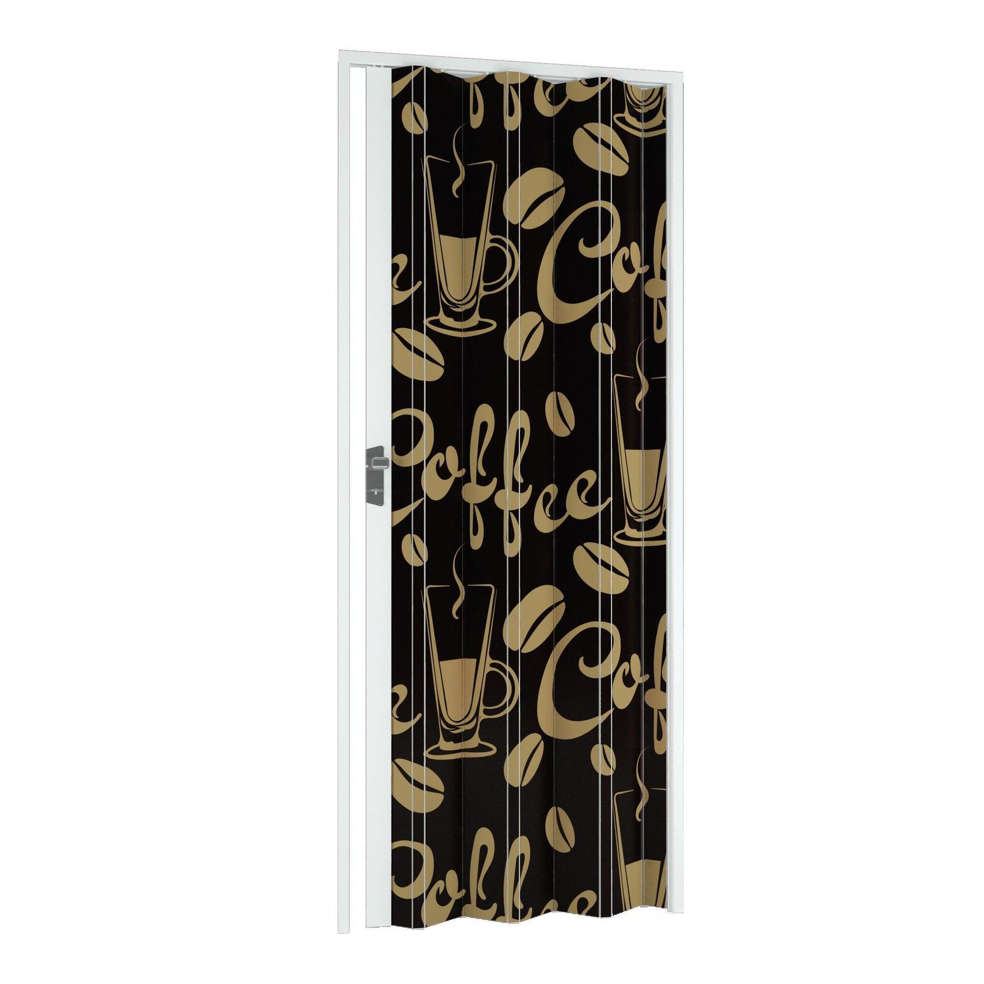 Porta a soffietto Coffee in pvc multicolore L 115 x H 214 cm