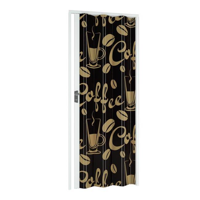 Porta a soffietto Coffee in pvc multicolore L 115 x H 214 cm - 1