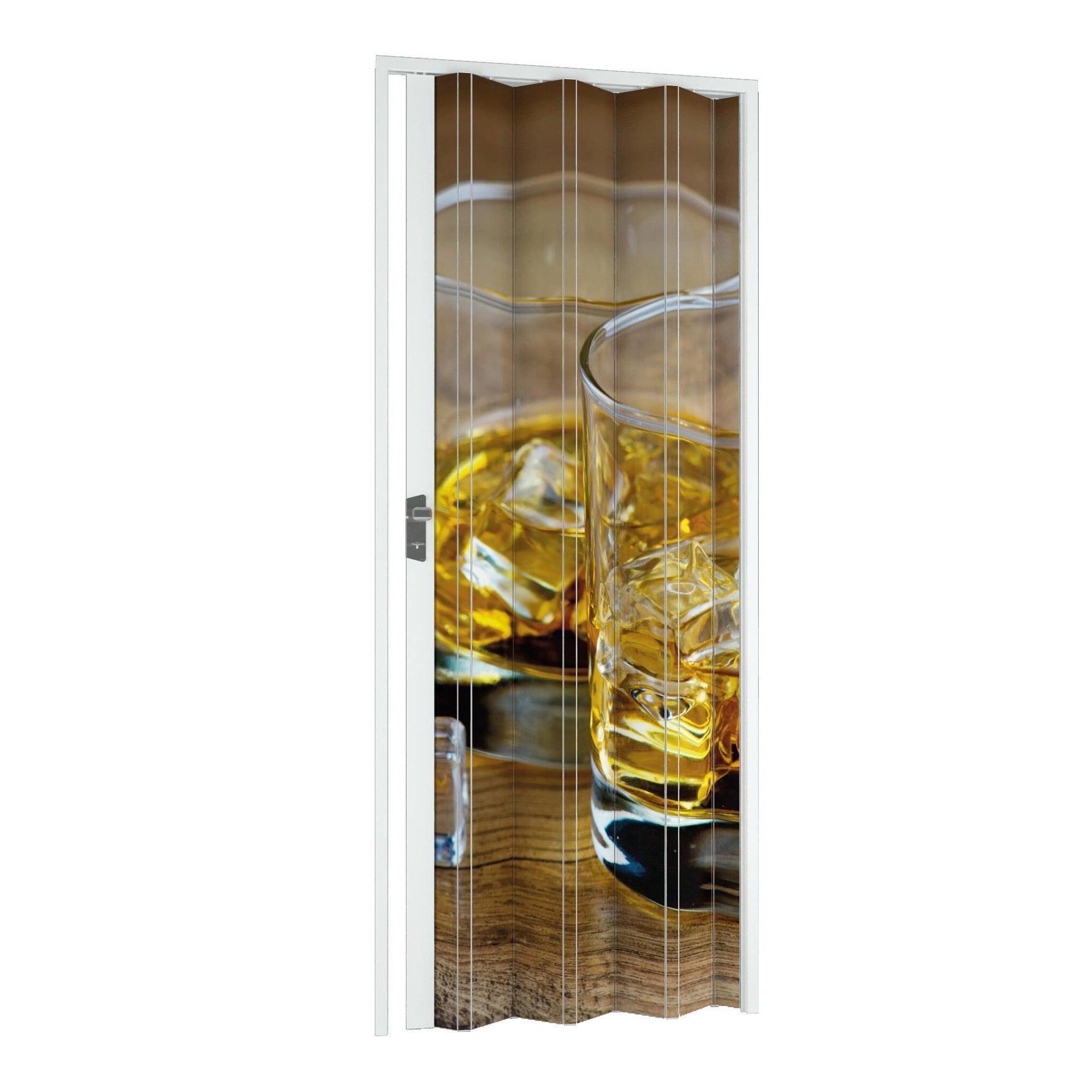 Porta a soffietto Drink in pvc multicolore L 102 x H 214 cm