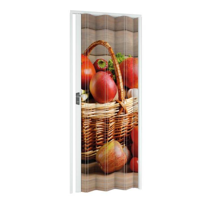 Porta a soffietto Fruit in pvc multicolore L 115 x H 214 cm - 1