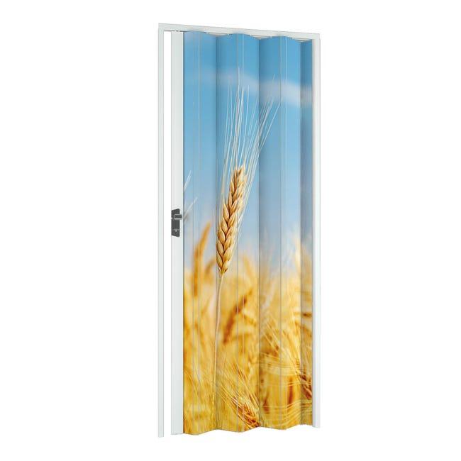 Porta a soffietto Grain in pvc multicolore L 115 x H 214 cm - 1