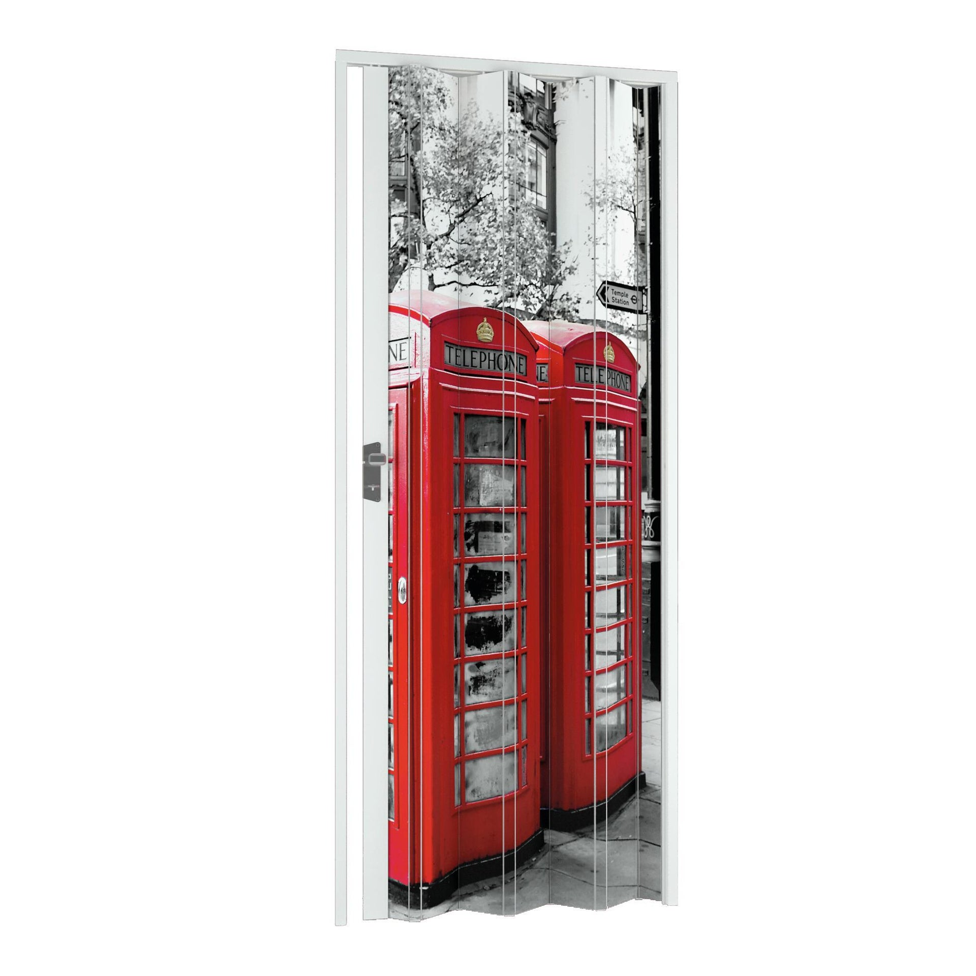 Porta a soffietto London in pvc multicolore L 102 x H 214 cm