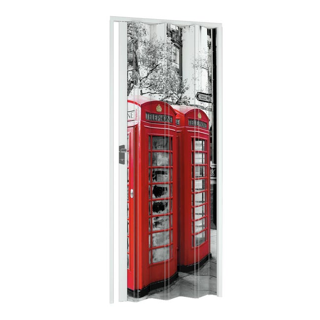 Porta a soffietto London in pvc multicolore L 102 x H 214 cm - 1