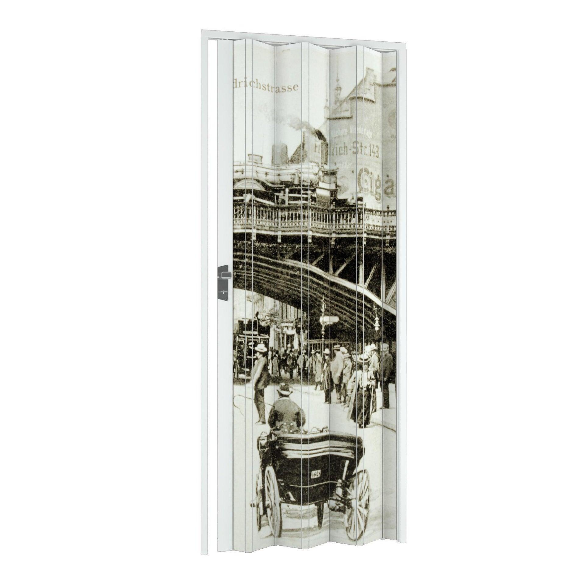 Porta a soffietto Vintage in pvc multicolore L 102 x H 214 cm