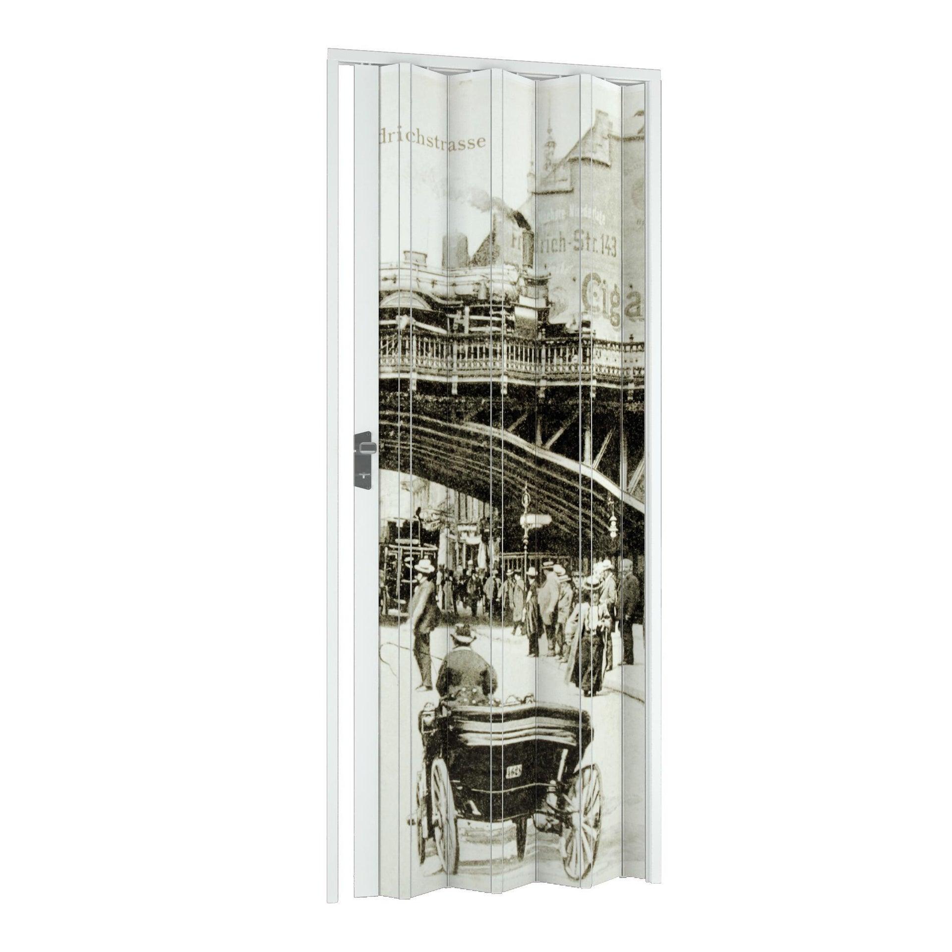 Porta a soffietto Vintage in pvc multicolore L 115 x H 214 cm