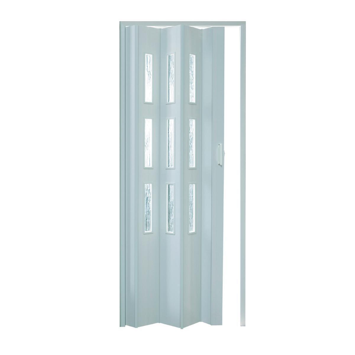 Porta a soffietto Basic in pvc bianco L 83 x H 214 cm