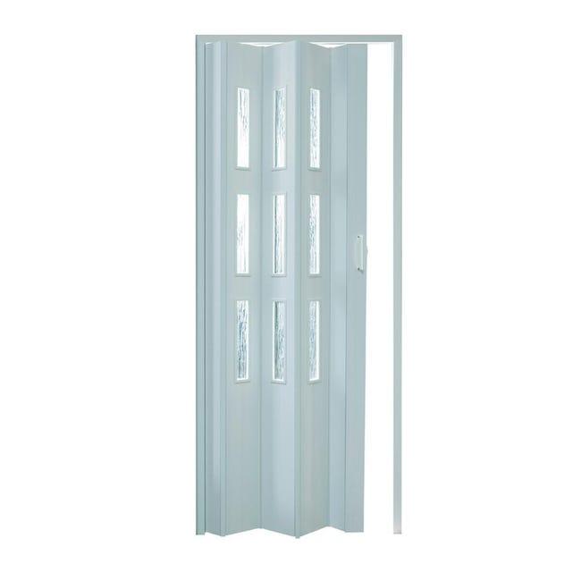 Porta a soffietto Basic in pvc bianco L 83 x H 214 cm - 1