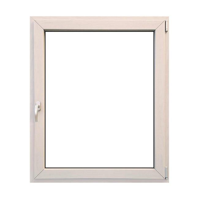 Finestra in legno bianco L 100 x H 120 cm, 1 anta oscillo-battente apertura destra - 1