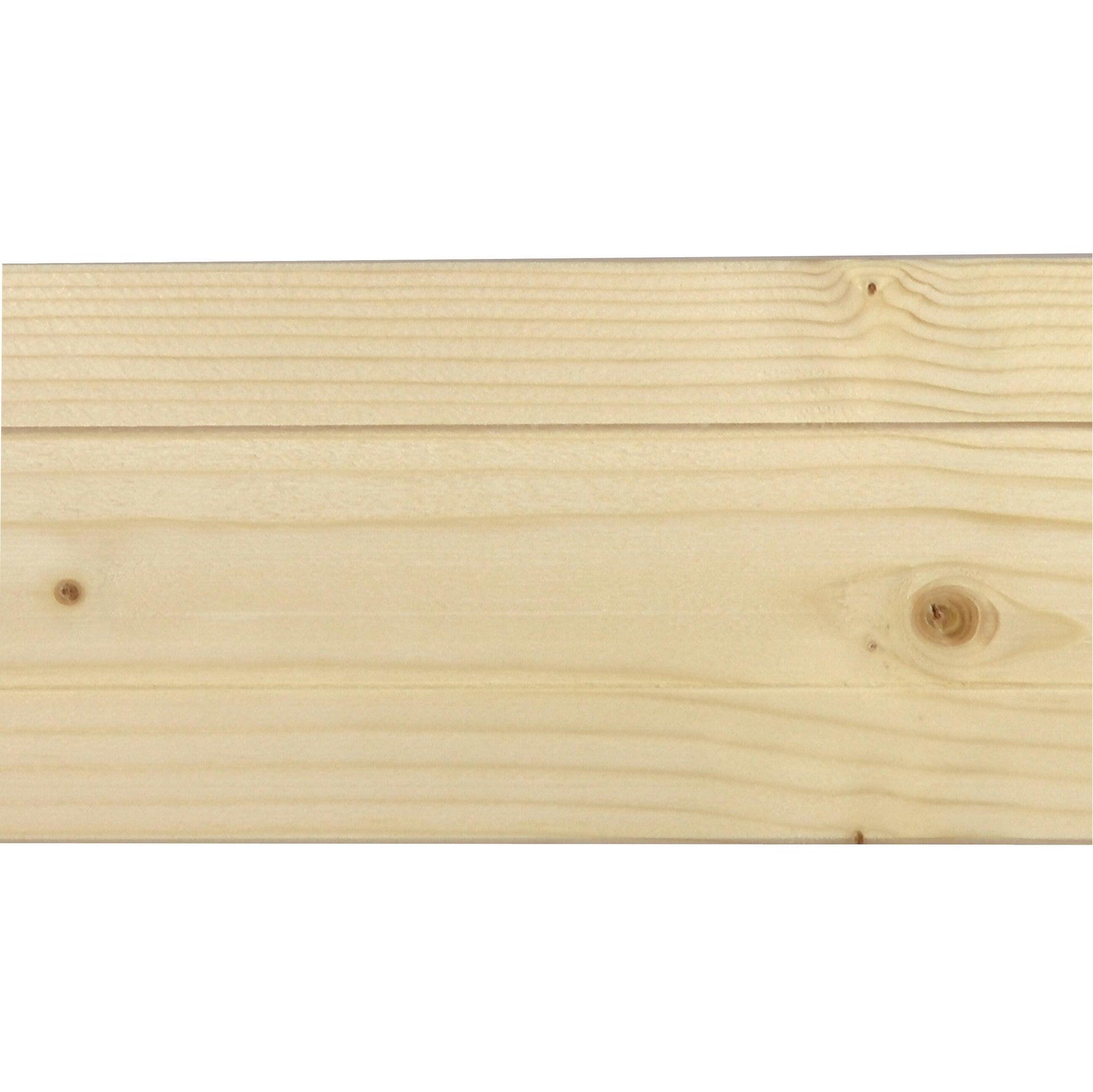 Coprifilo in legno legno massello naturale L 2250 x P 10 x H 80 mm - 5