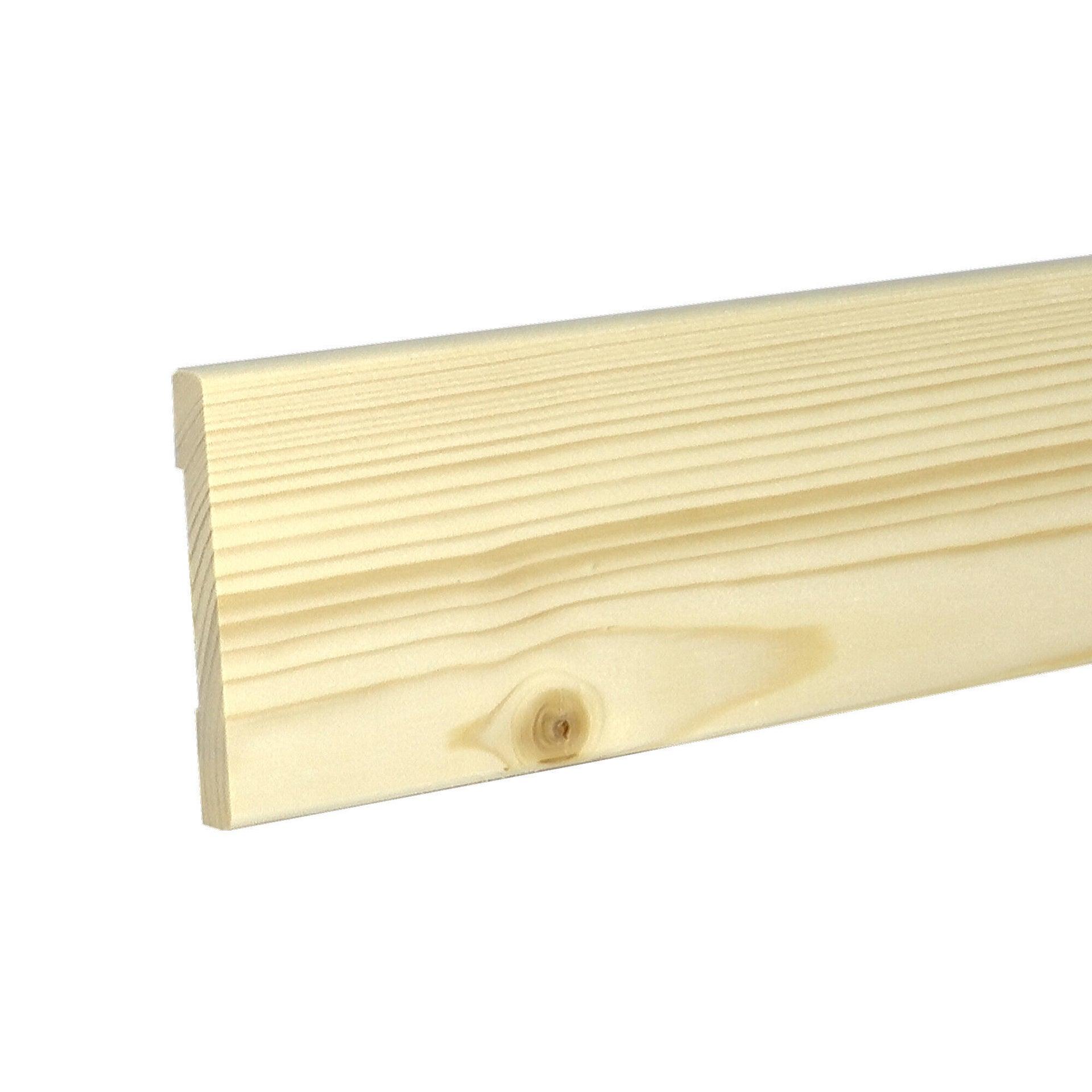 Coprifilo Beethoven in legno legno massello naturale L 2250 x P 10 x H 70 mm - 4