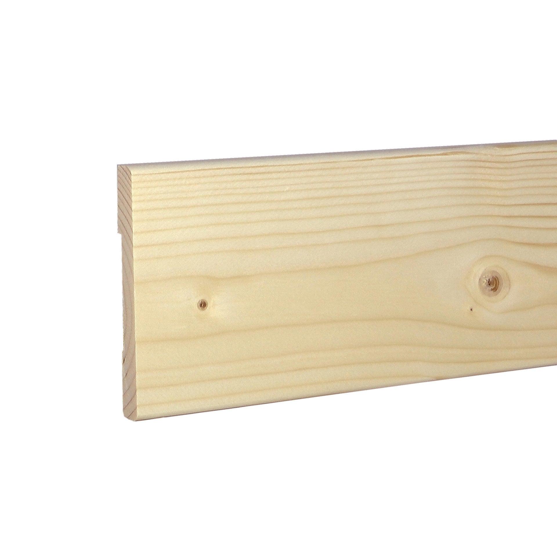 Coprifilo in legno legno massello naturale L 2250 x P 10 x H 80 mm - 2