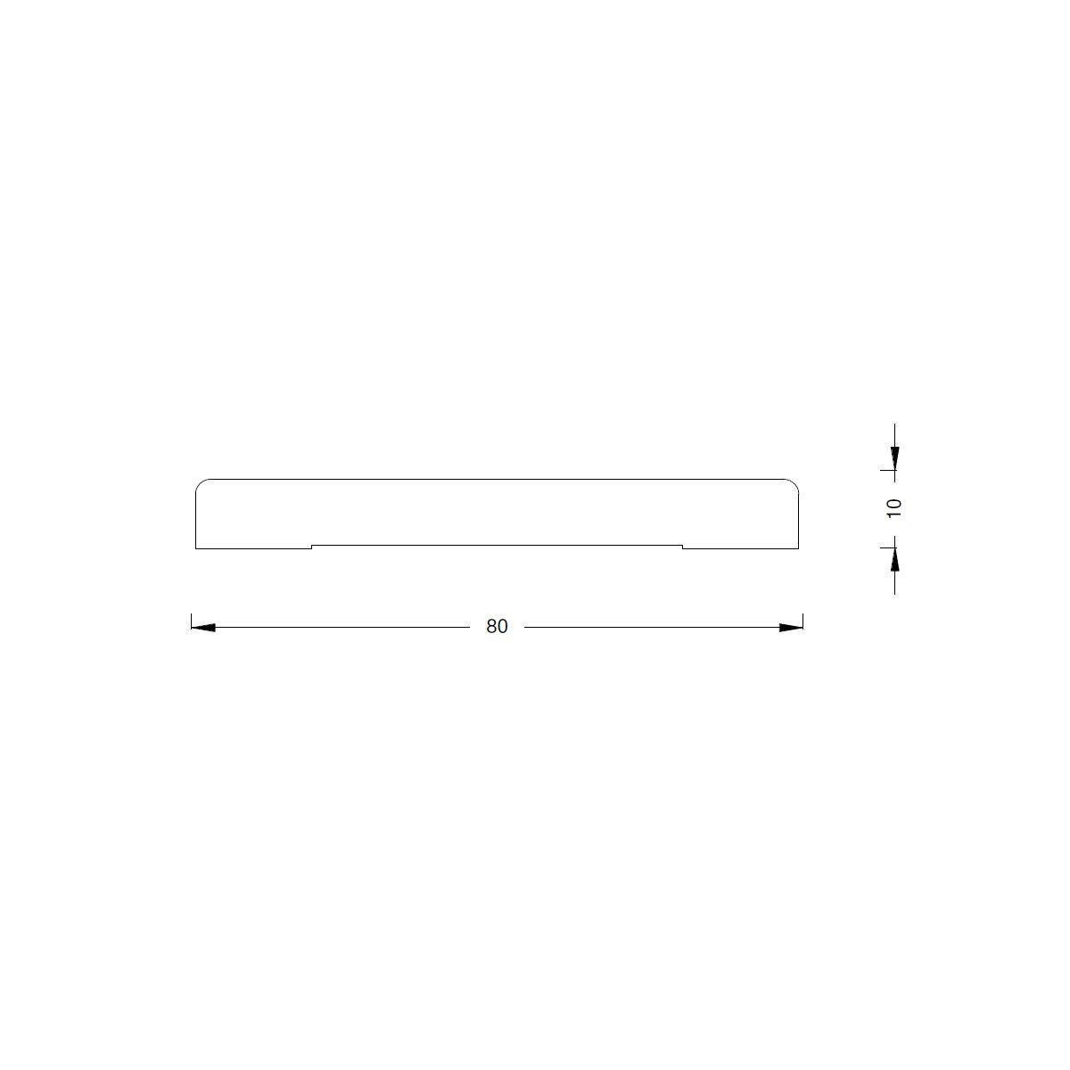 Coprifilo in legno legno massello naturale L 2250 x P 10 x H 80 mm - 4
