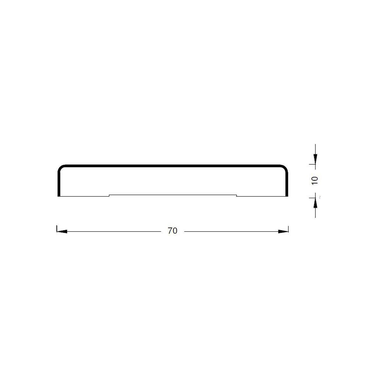 Coprifilo in legno legno massello noce scuro L 2250 x P 10 x H 70 mm - 3