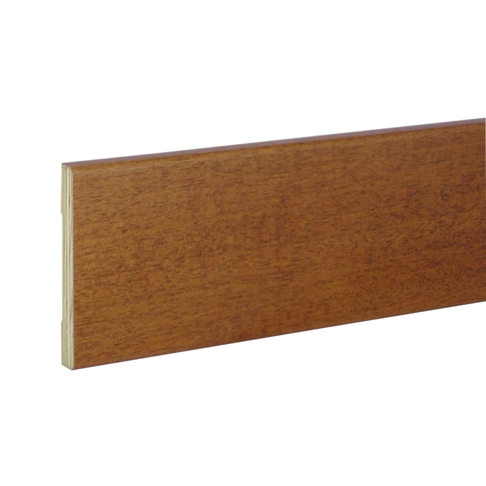 Coprifilo in legno legno massello noce scuro L 2250 x P 10 x H 70 mm - 6
