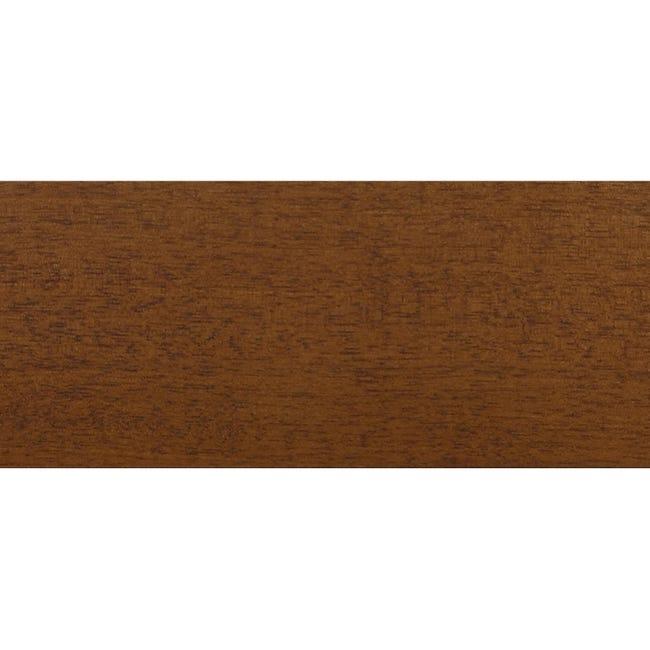 Coprifilo in legno legno massello noce scuro L 2250 x P 10 x H 70 mm - 1