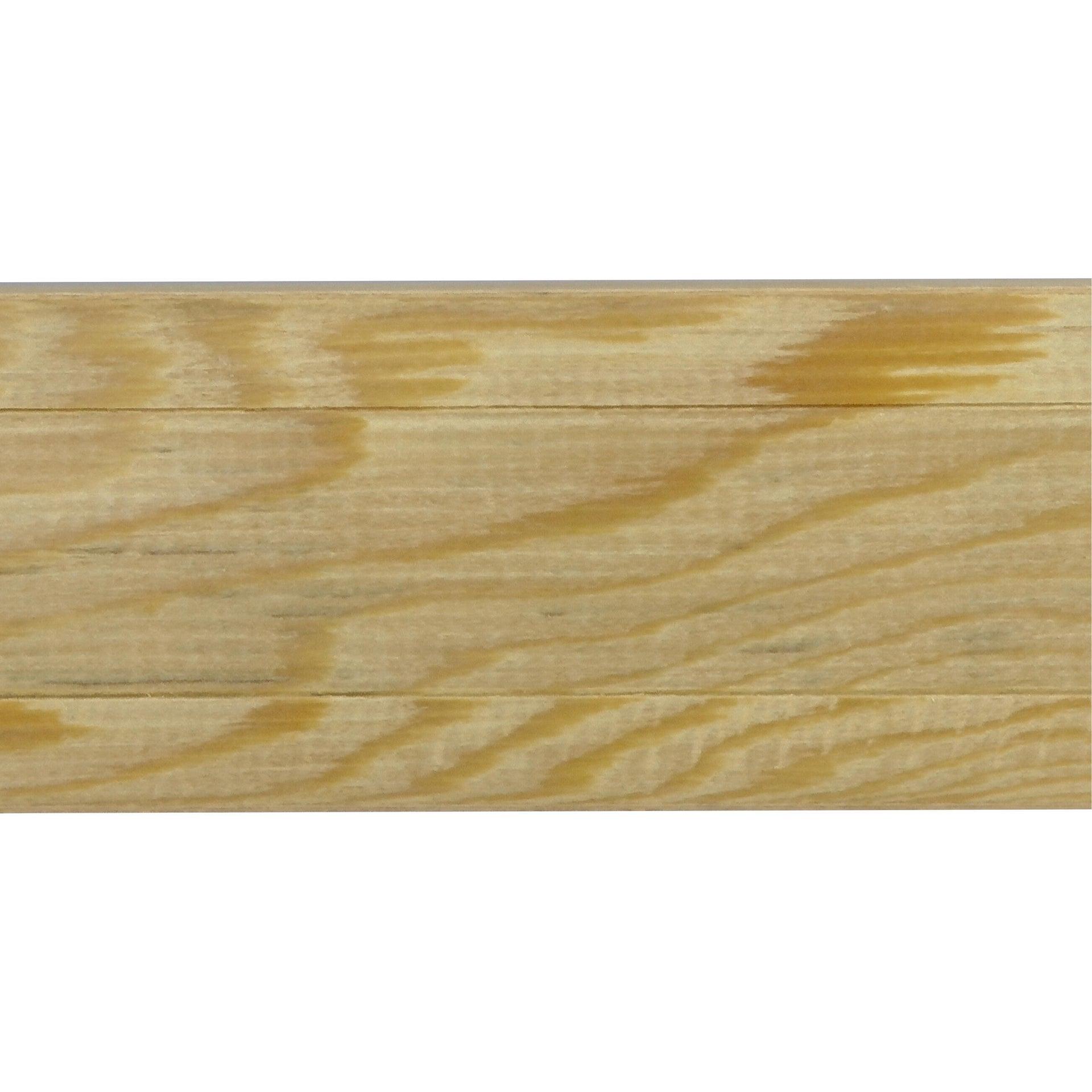 Coprifilo in legno legno massello noce scuro L 2250 x P 10 x H 70 mm - 5