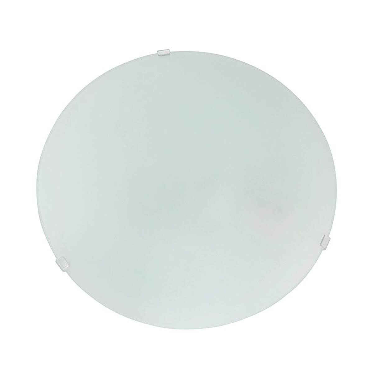 Plafoniera classico Pluton bianco, in cristallo, D. 25 cm 25x25 cm, - 2