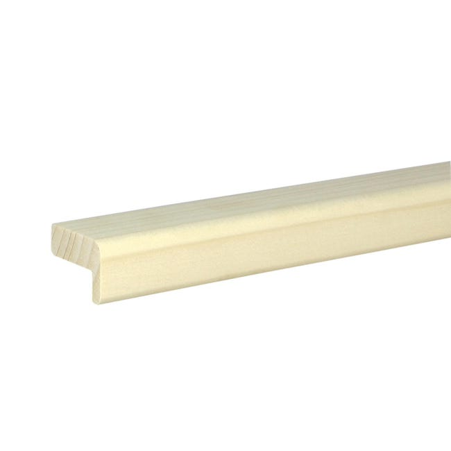 Angolare in abete naturale 2 m x 30 mm, Sp 21 mm - 1