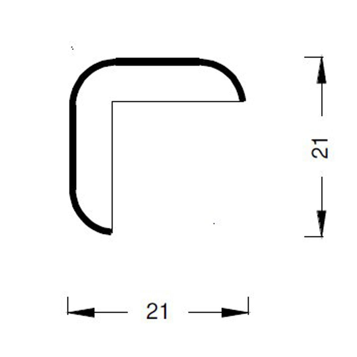 Paraspigolo in rovere rovere 3 m x 21 mm, Sp 21 mm - 2