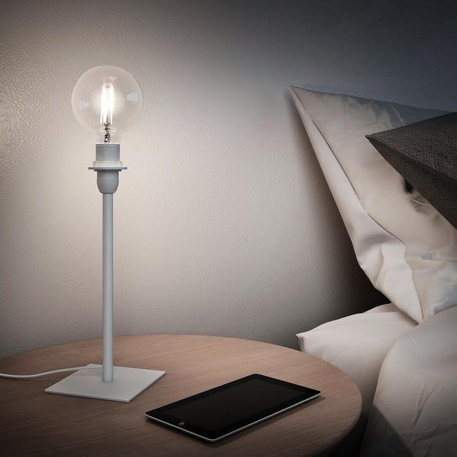 Base per lampada da terra Linz bianco, H 27 cm, E14 MAX40W N/A - 1