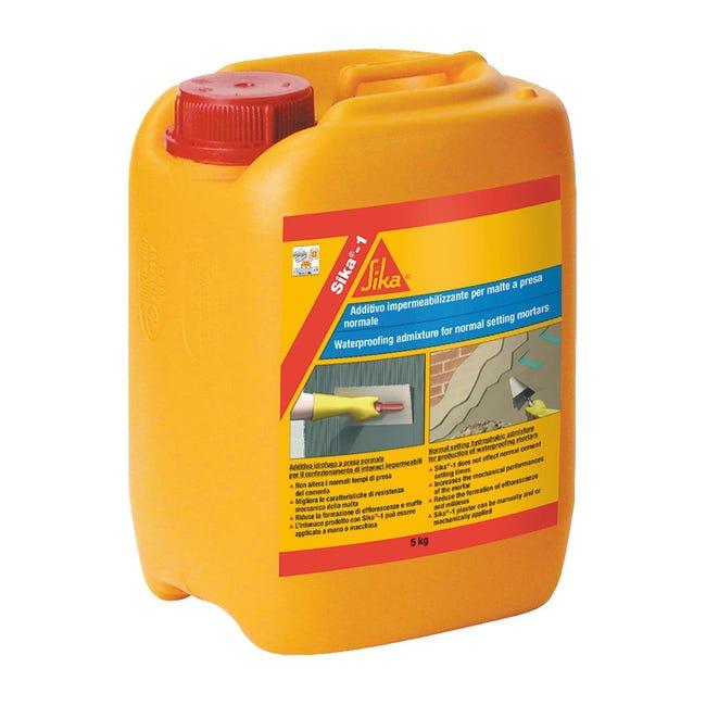 Additivo plastificante SIKA impermeabilizzante 5 L - 1