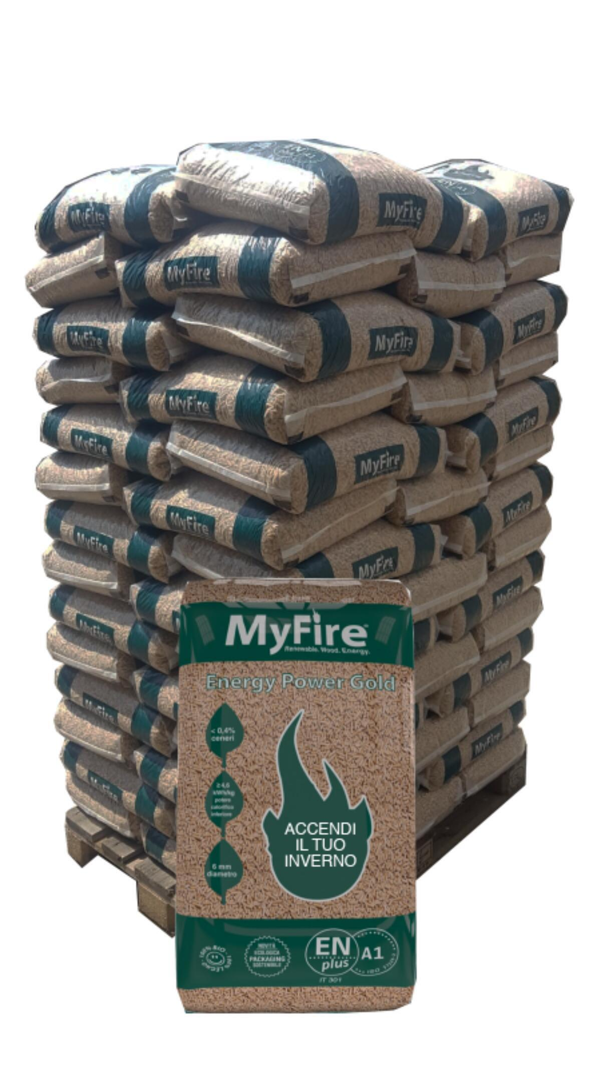 Pellet MyFire Energy Power ENplus A1 70 sacchi da 15 kg in pino e abete - 4