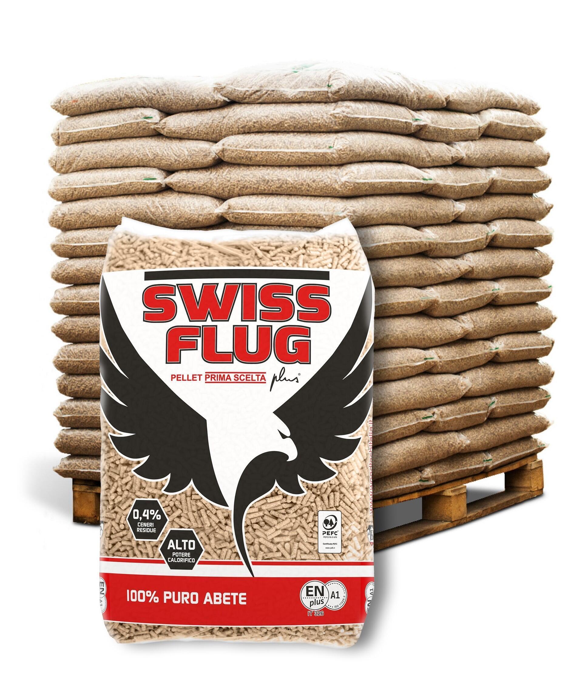Pellet Swiss flug ENplus A1 65 sacchi da 15 kg in abete - 2