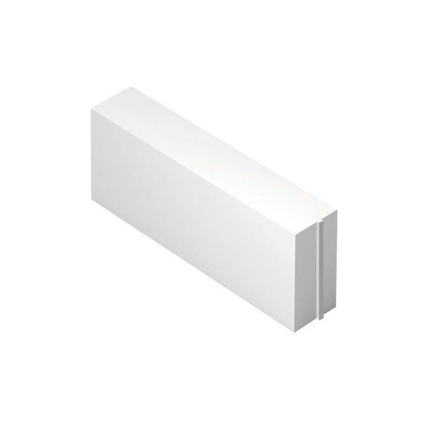 Blocco in calcestruzzo cellulare Siporex 62.5 cm, Sp 12 cm, bianco - 1