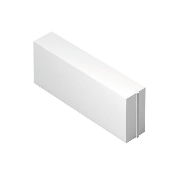 Blocco in calcestruzzo cellulare Siporex 62.5 cm, Sp 20 cm, bianco - 1