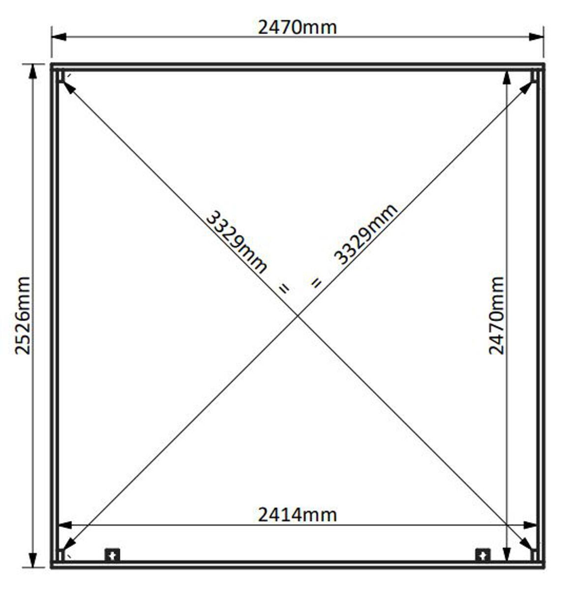 Casetta da giardino in legno Viola, superficie interna 5.96 m² e spessore parete 28 mm - 5