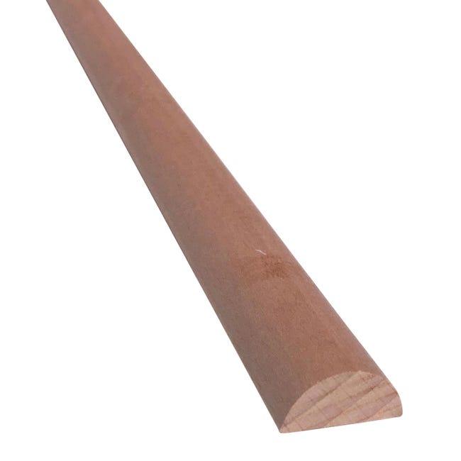 1/2 tondo piallato faggio 3 m x 25 mm, Sp 12 mm - 1