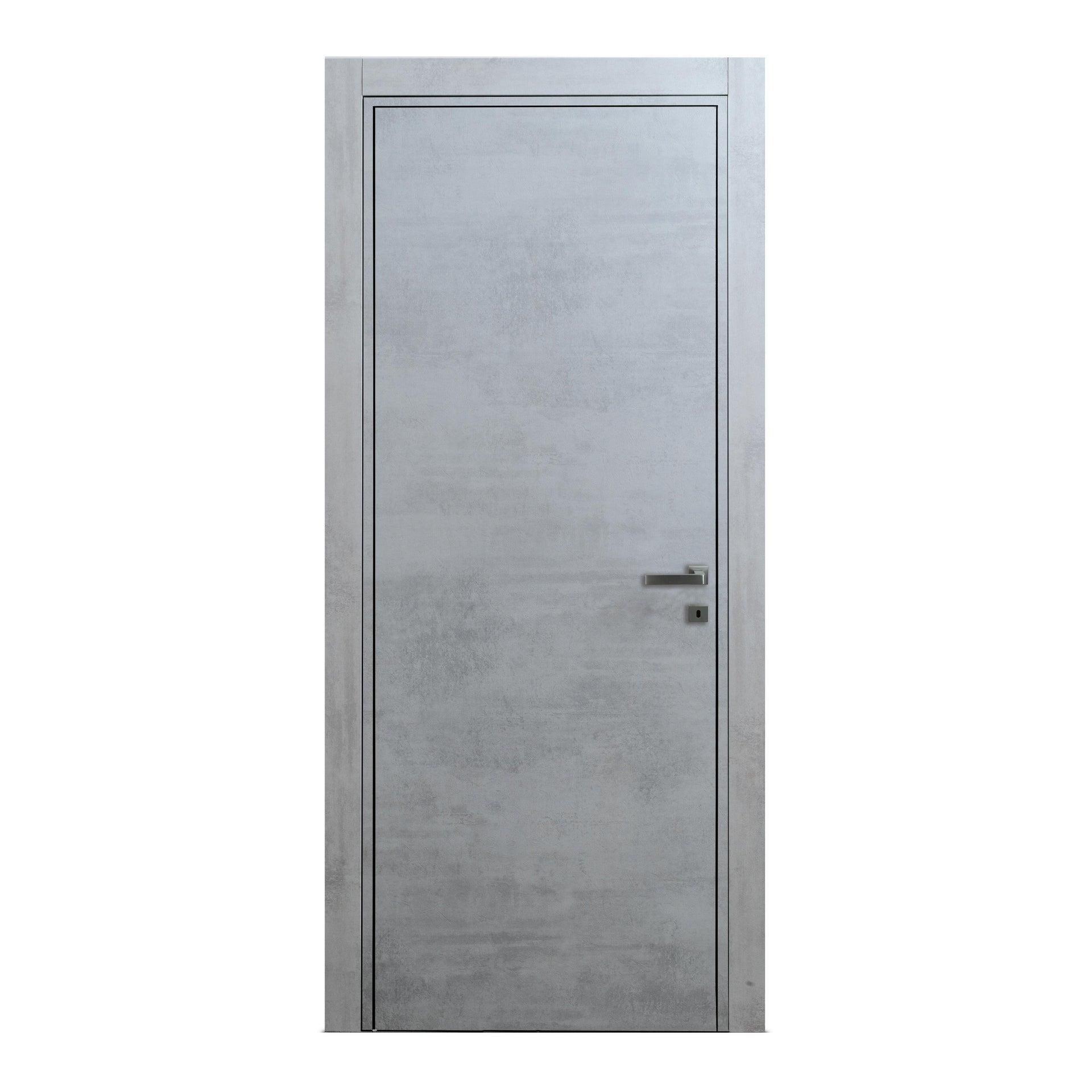 Porta a battente Naos cemento L 70 x H 210 cm reversibile - 4