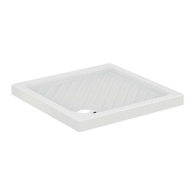 Piatto doccia ceramica Suite 80 x 80 cm bianco - 1