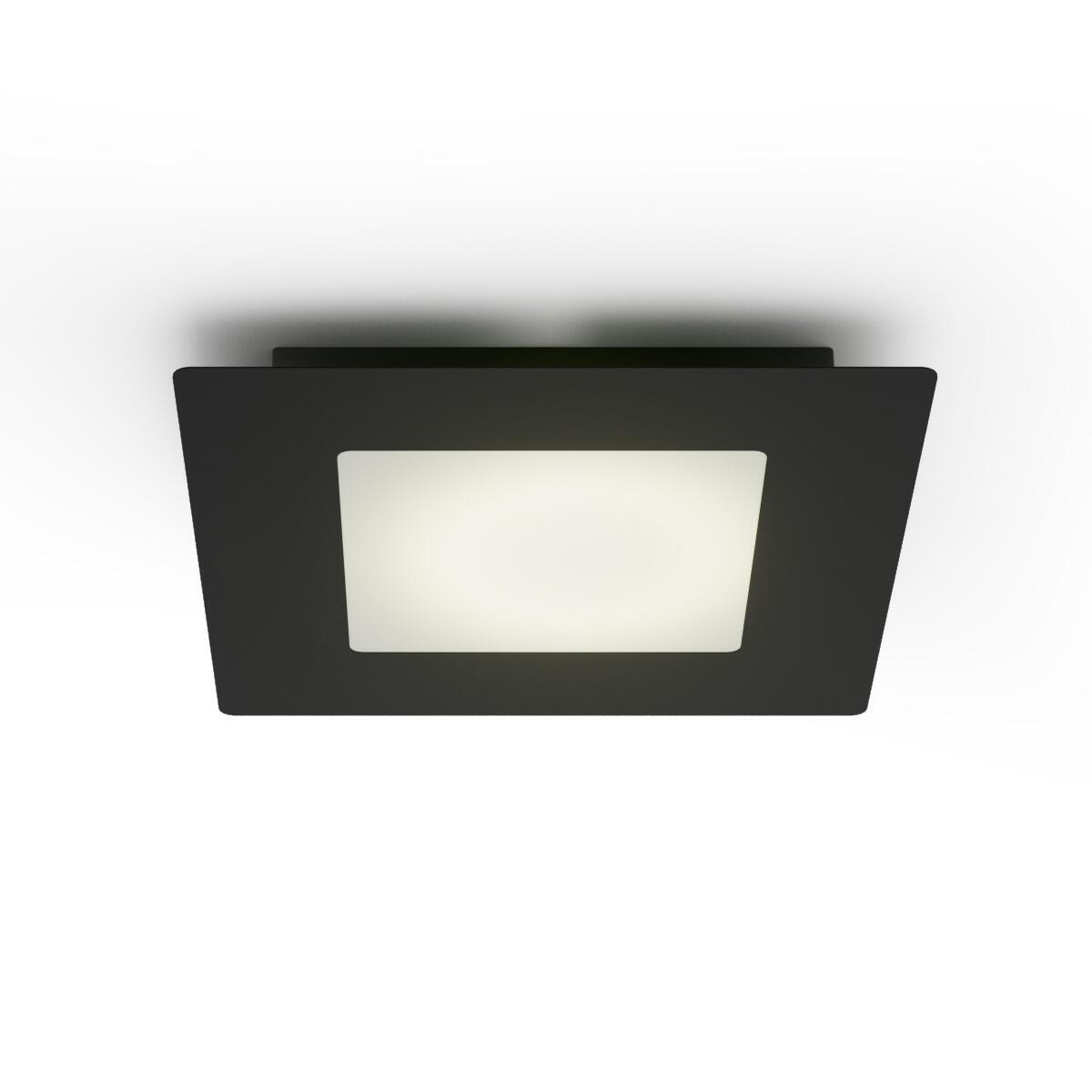 Plafoniera Hunk LED integrato antracite, in metallo, LED  luci