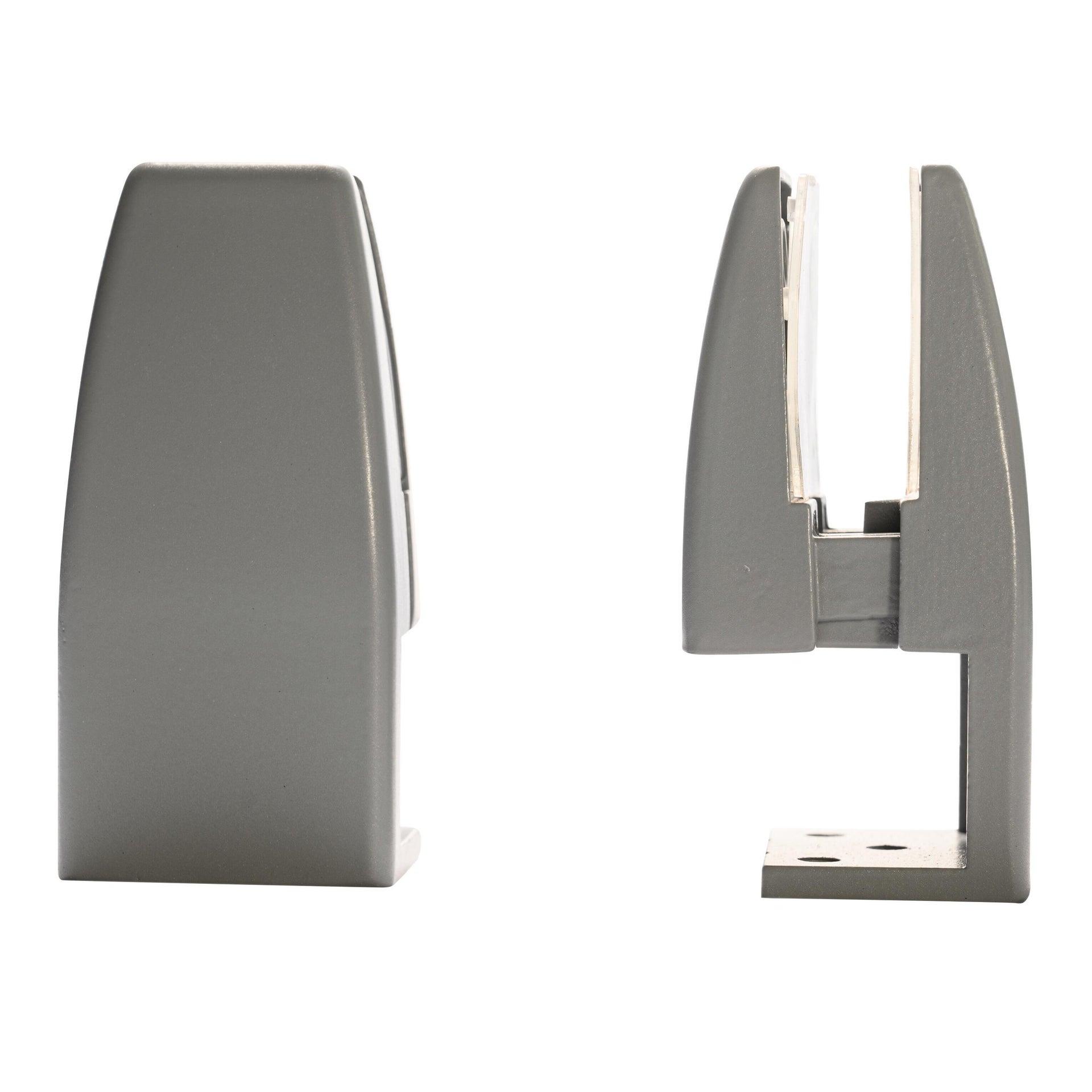 Reggimensola supporto pannelli 4-20 mm L 4 x H 9 x P 20 cm grigio / argento