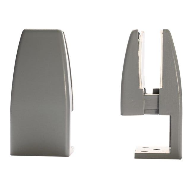 Reggimensola supporto pannelli 4-20 mm L 4 x H 9 x P 20 cm grigio / argento - 1