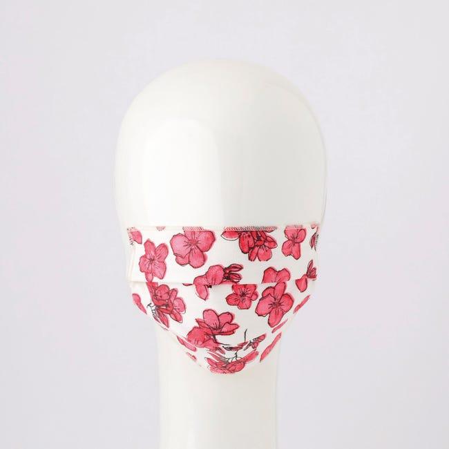 Maschera in tessuto lavabile per utilizzo non sanitario Flower 2 pezzi - 1