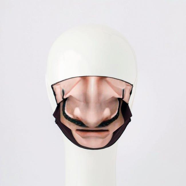 Maschera in tessuto lavabile per utilizzo non sanitario Baffi - 1