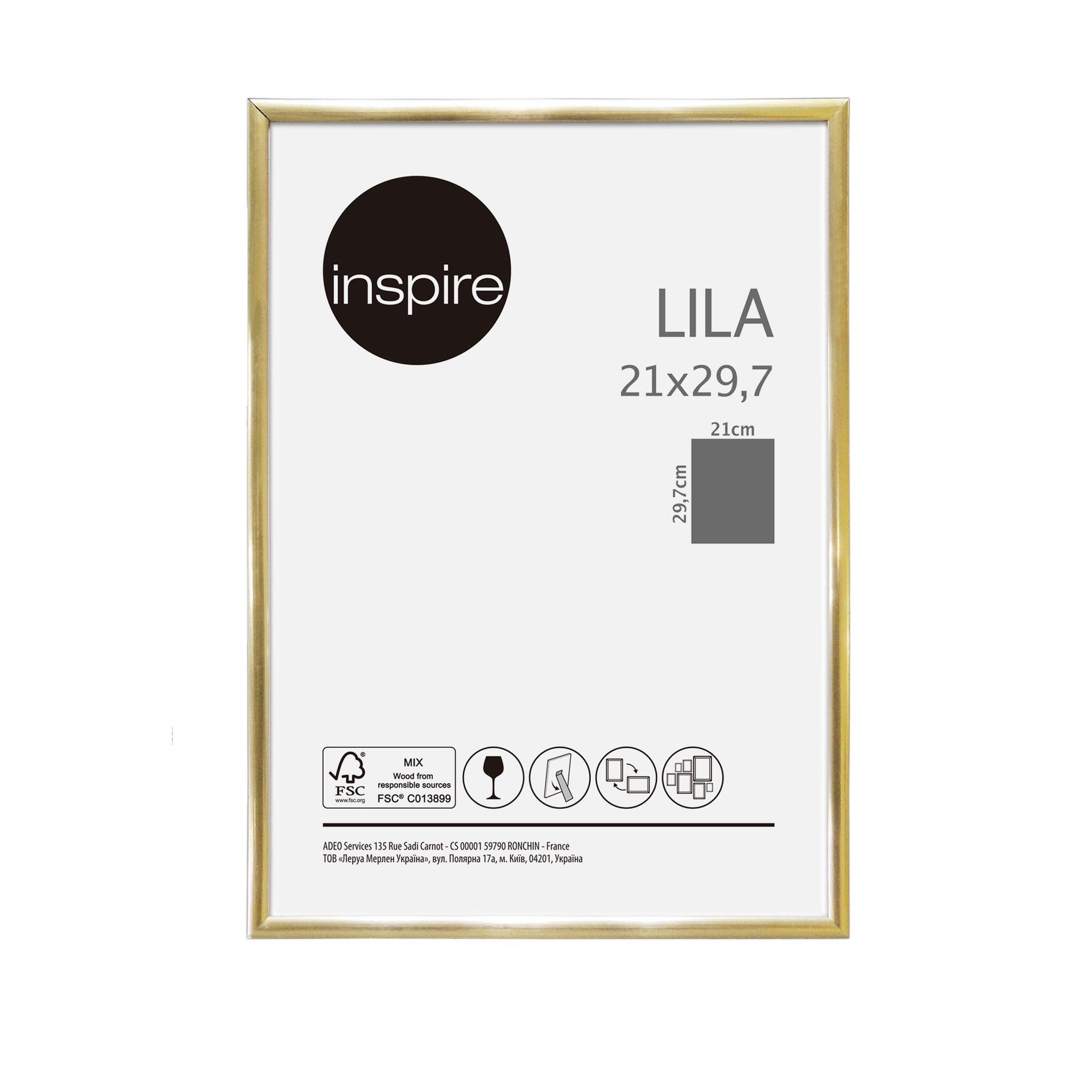 Cornice INSPIRE Lila oro per foto da 21x29.7(A4) cm - 6