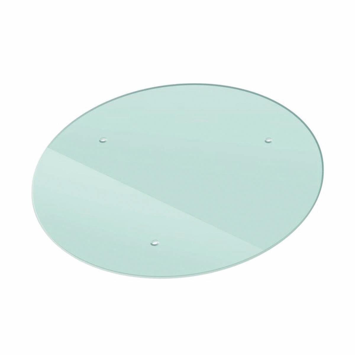 Vetro ripiano con fori trasparente L 45 x H 45 cm, Sp 10 mm