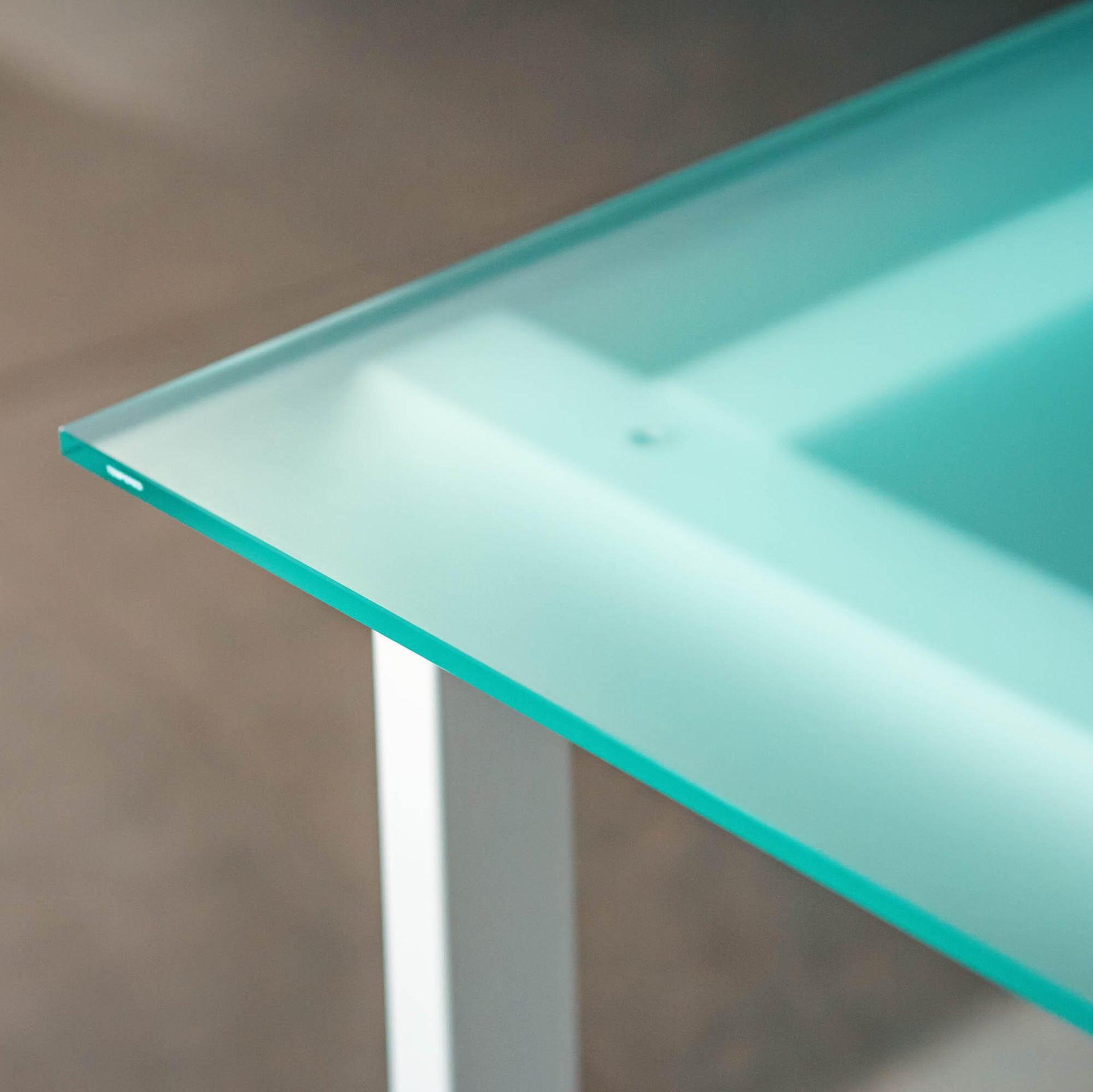 Tavolo da giardino rettangolare Crystal con piano in vetro L 80 x P 160 cm - 3
