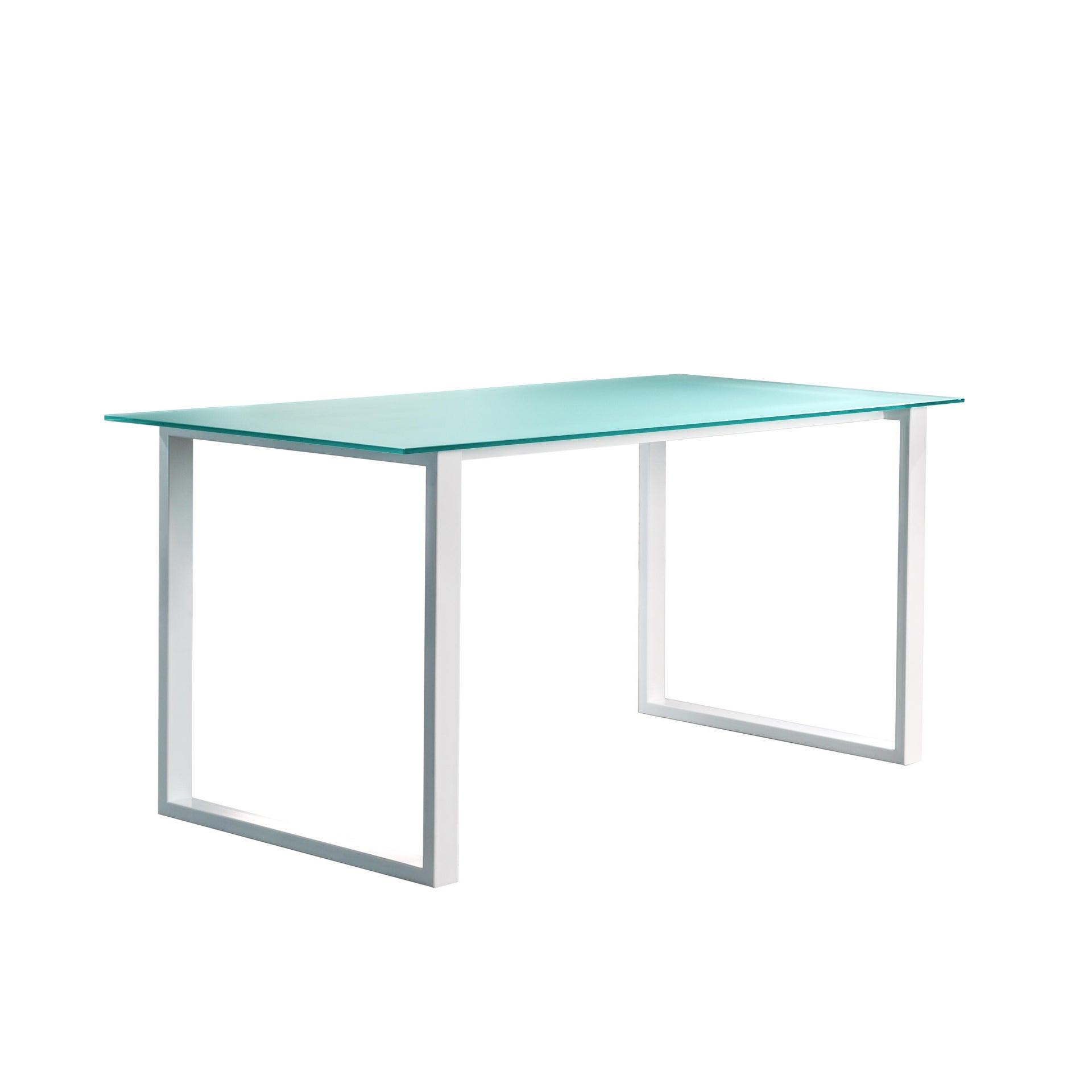 Tavolo da giardino rettangolare Crystal con piano in vetro L 80 x P 160 cm - 2