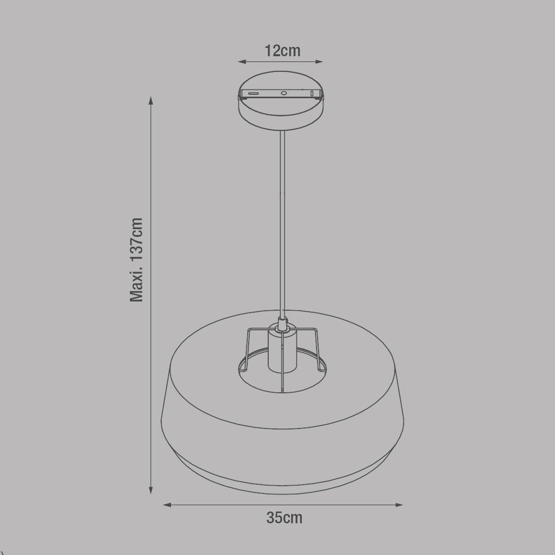 Lampadario Industriale Glint nero in metallo, D. 35 cm, L. 32 cm, INSPIRE - 6