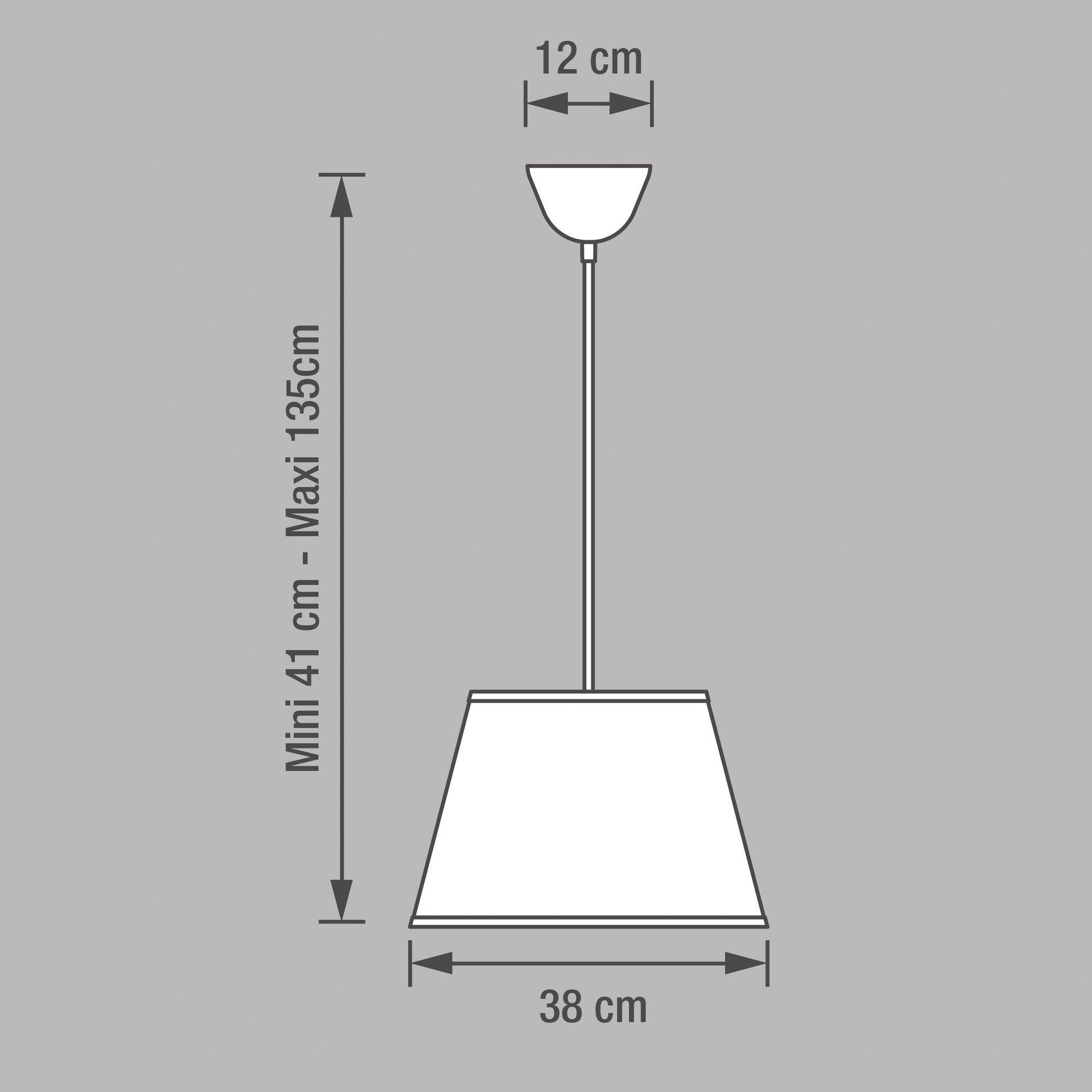 Lampadario Moderno Sitia bianco in tessuto, D. 38 cm, L. 25 cm, INSPIRE - 5
