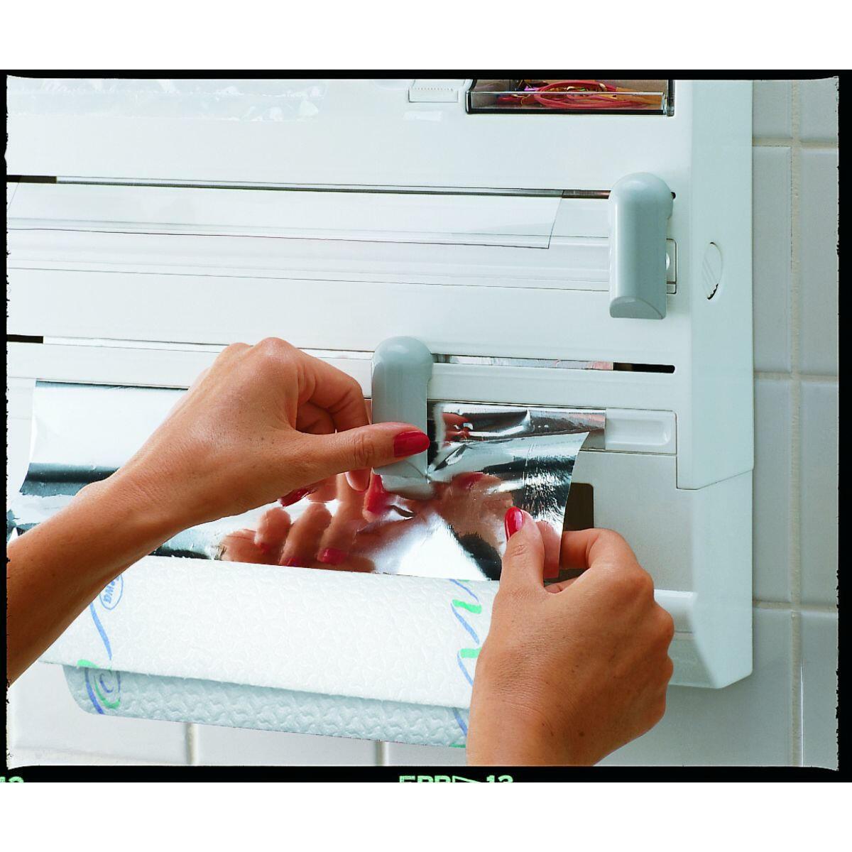 Porta rotolo carta assorbente tasselli Plus in plastica - 2