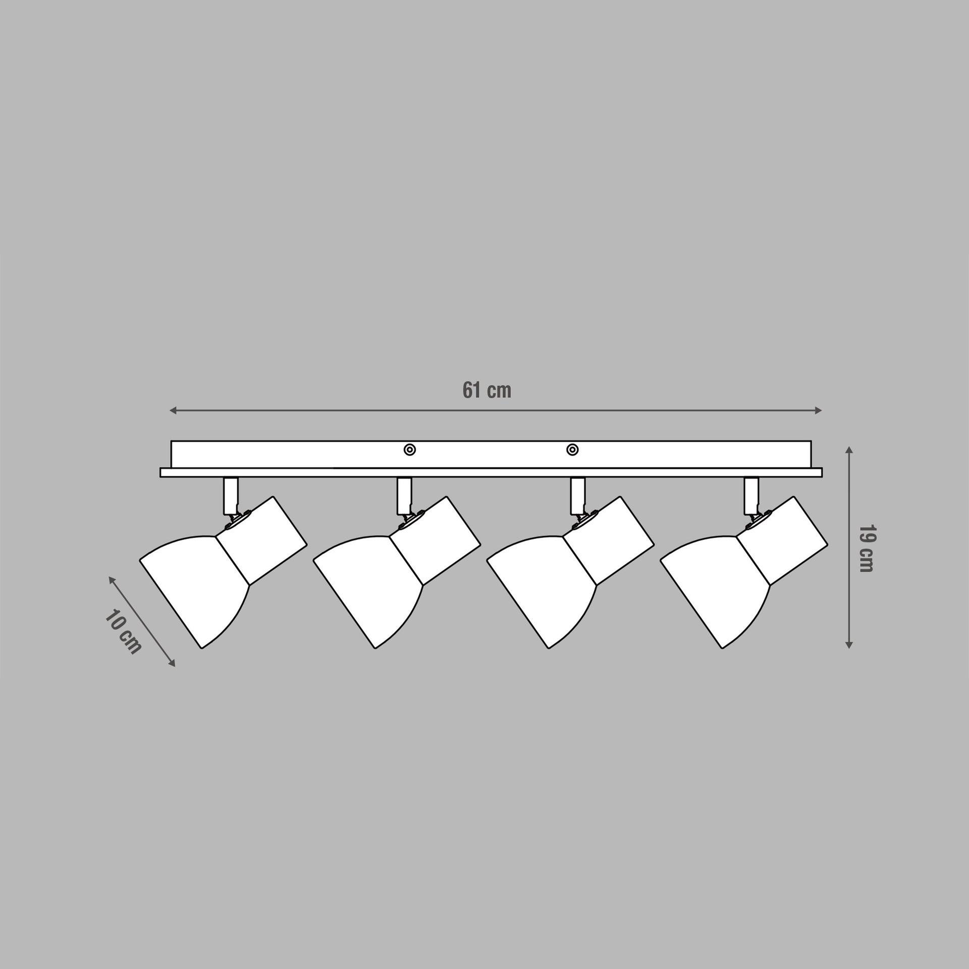 Faretto a muro Venosa bianco/legno, in metallo, E14 4xIP20 INSPIRE - 1
