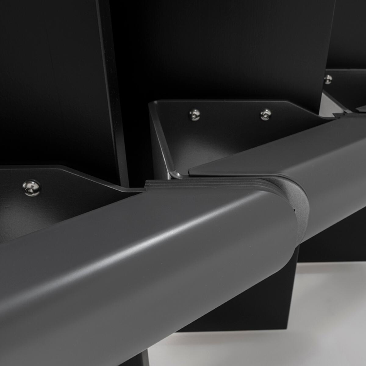 Scala a rampa 1/4 di giro Mas FONTANOT L 85 cm, gradino grigio antracite scuro, struttura antracite - 15