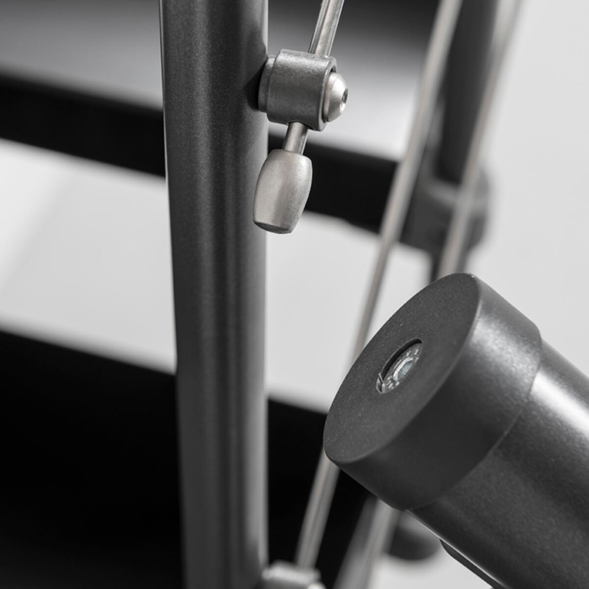 Scala a rampa 1/4 di giro Mas FONTANOT L 85 cm, gradino grigio antracite scuro, struttura antracite - 11